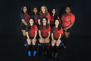 The women's rugby team in 2018-19