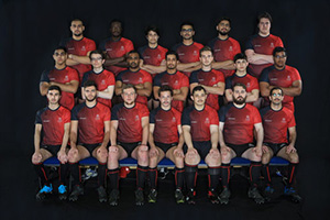 The men's rugby team in 2018-19